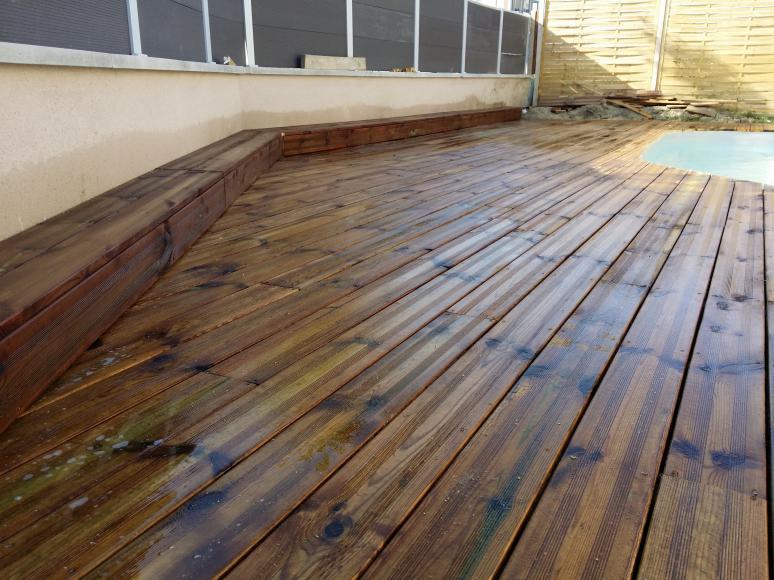 photos lames de terrasse bois prix pas cher trait autoclave classe 4 - Lames Terrasse Pas Cher